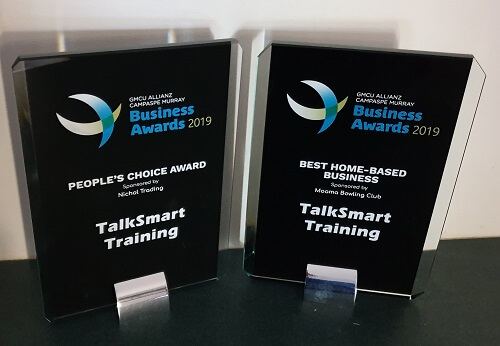 TalkSmart Training wins 2019 Campaspe Murray Business Awards